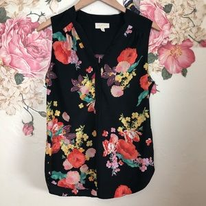 MODCLOTH | Floral sleeveless blouse size small